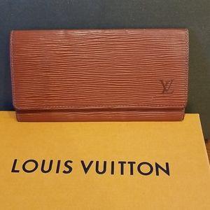 Authentic Louis Vuitton wallet checkbook